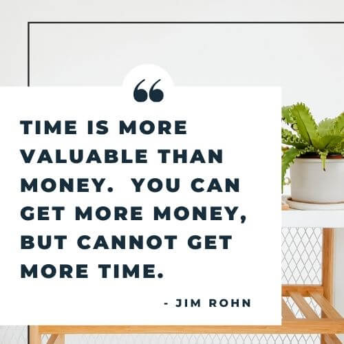 Jim Rohn quote on time vs money