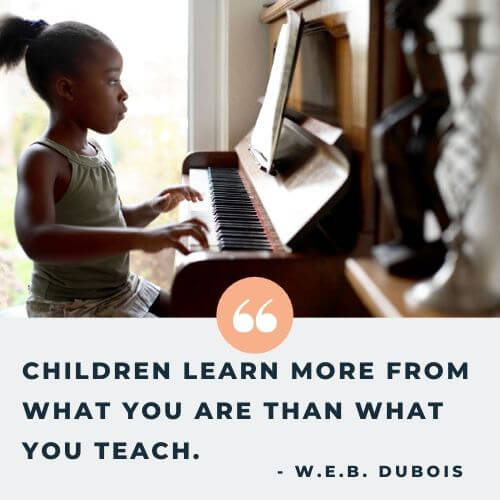 W.E.B. DuBois quote on children - financial stability