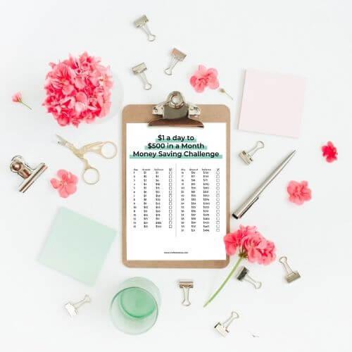 500 in a month money saving challenge