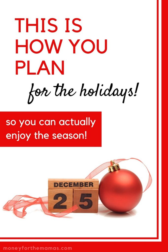 how to plan for the holidays