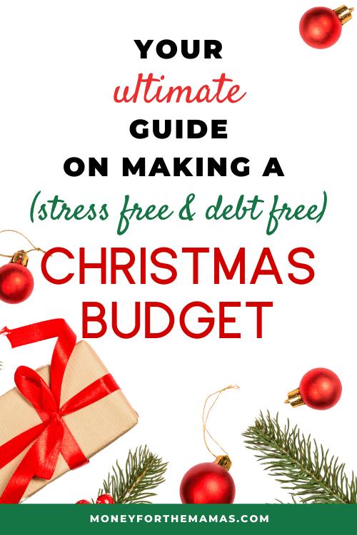 ultimate debt free christmas budget