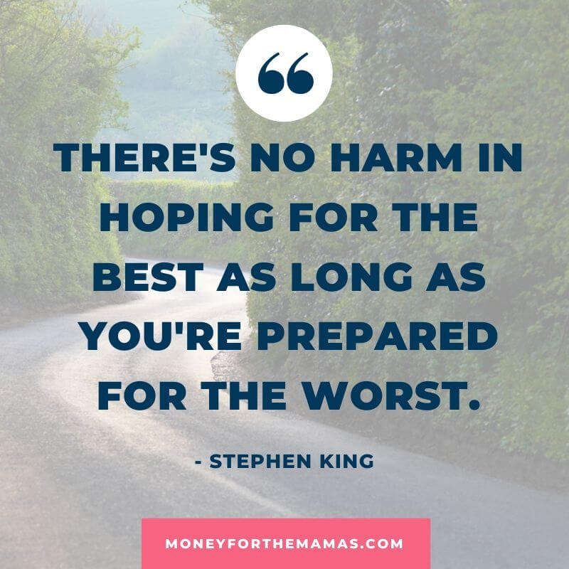Stephen King quote on being prepared