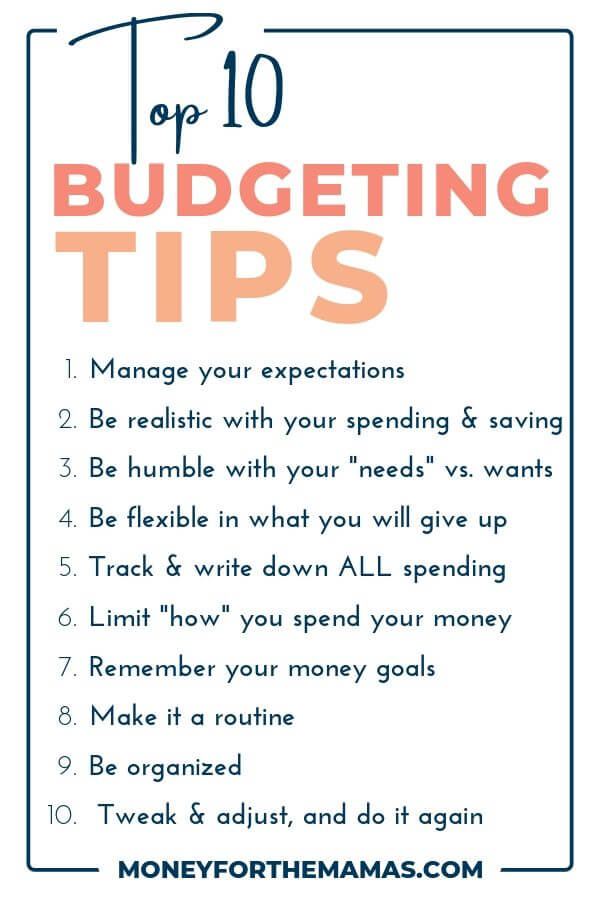 Top 10 Budgeting Tips