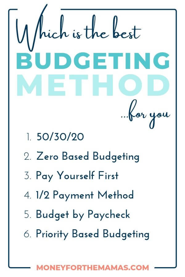 Different Budgeting Methods