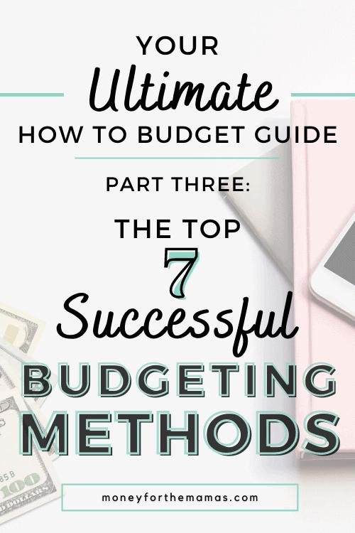different budgeting methods