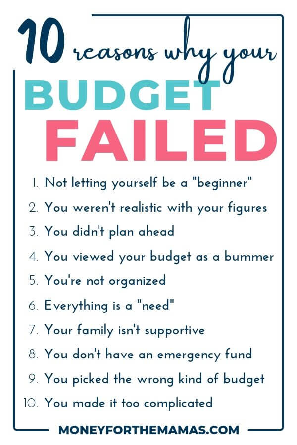 10 budgeting mistakes