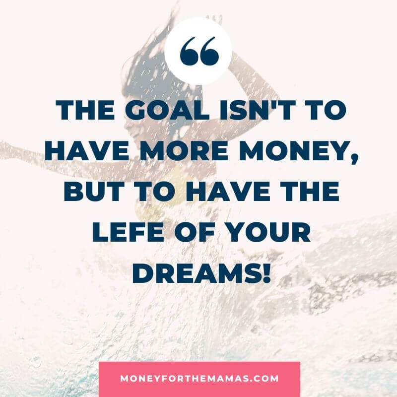 financial goal quote