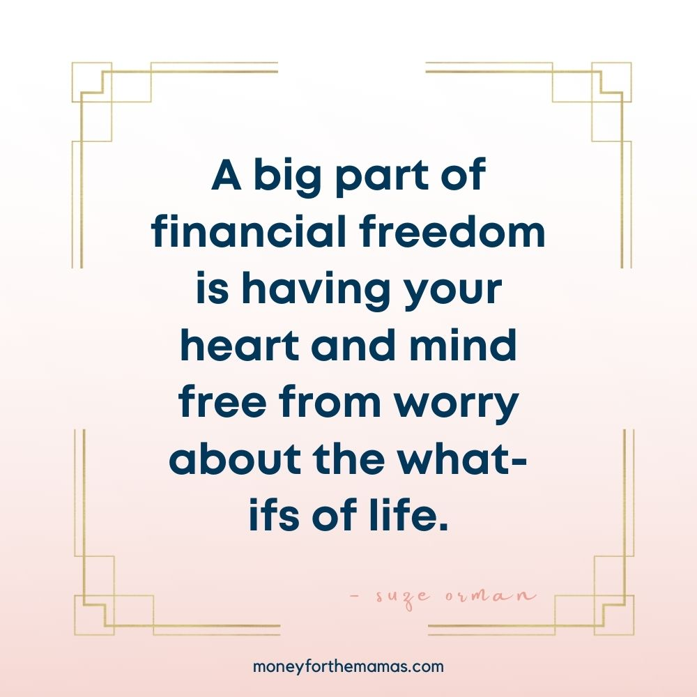 suze orman quote on financial stress