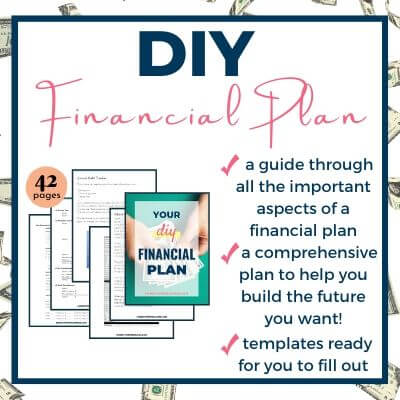 DIY Financial plan blog post CTA