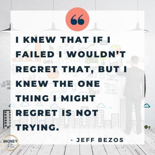 Jeff Bezos quote on regret