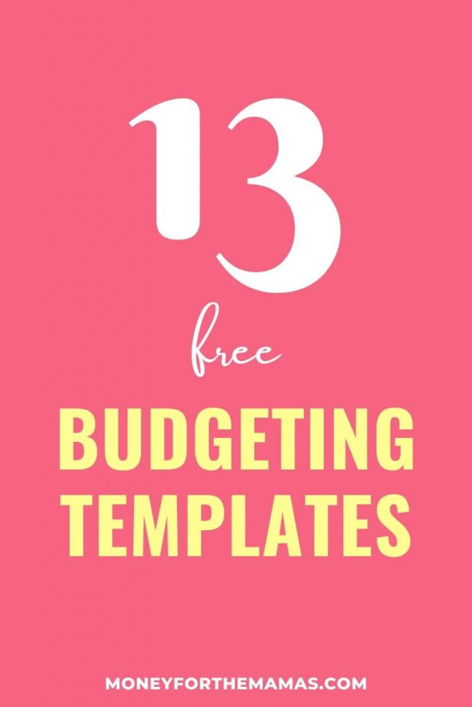 13 budgeting printables