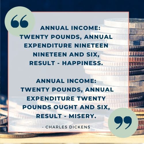 Charles Dickens quote on money