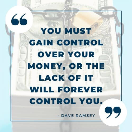 Dave Ramsey quote on managing money