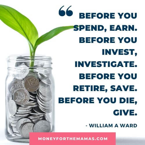 William A Ward quote on money