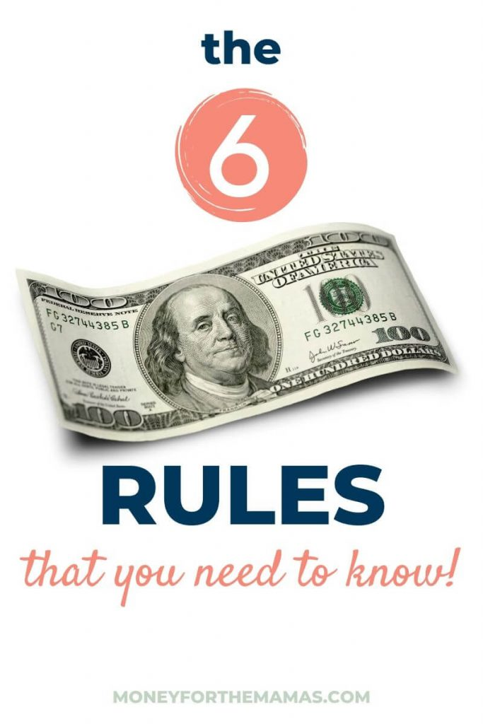 the 6 money rules that you need to know