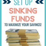 how to set up sinking funds
