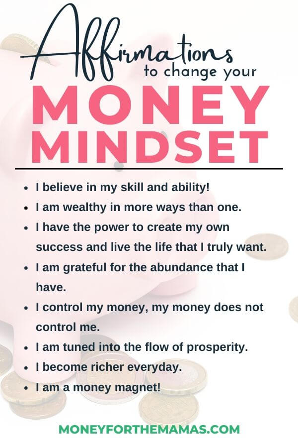 money mindset infographic