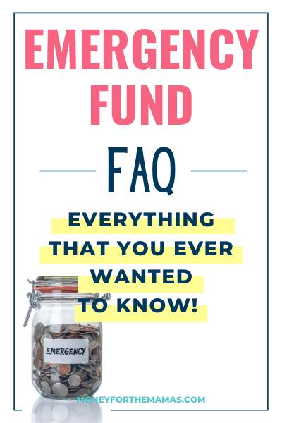 emergency fund - frequently asked questions