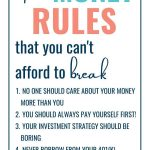 the money rules that you can't afford to break