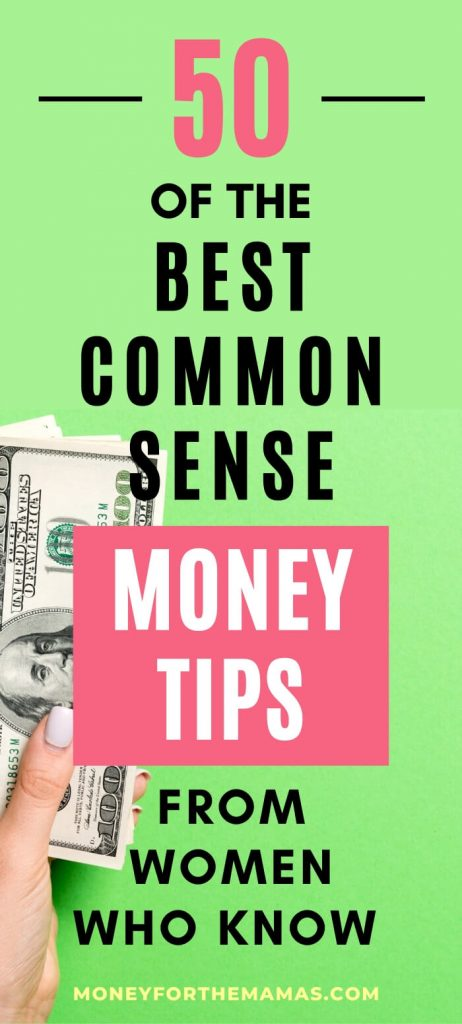 common sense money tips