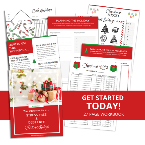 Christmas Budget Workbook mock up