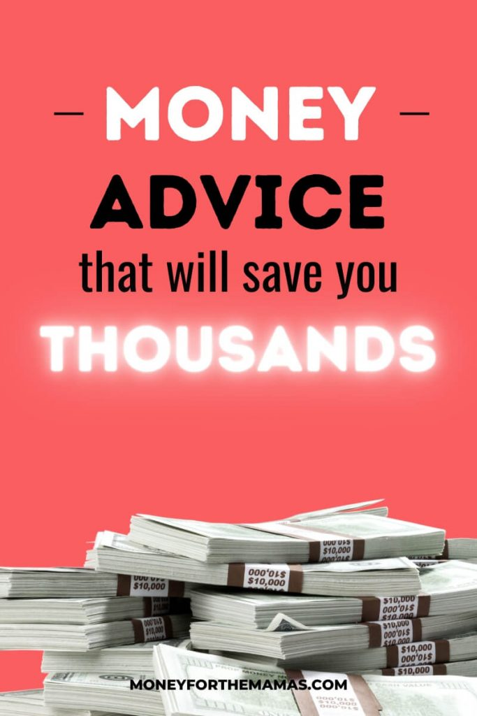 money advice to save you thousands