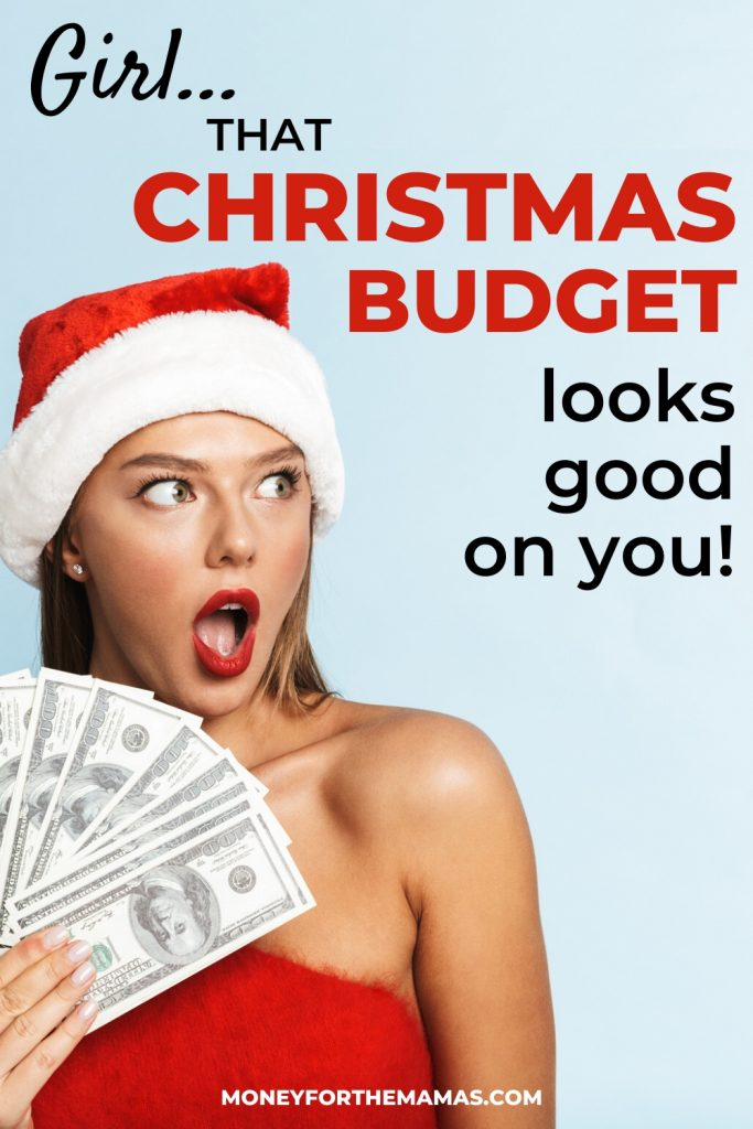 that Christmas Budget looks good on you!