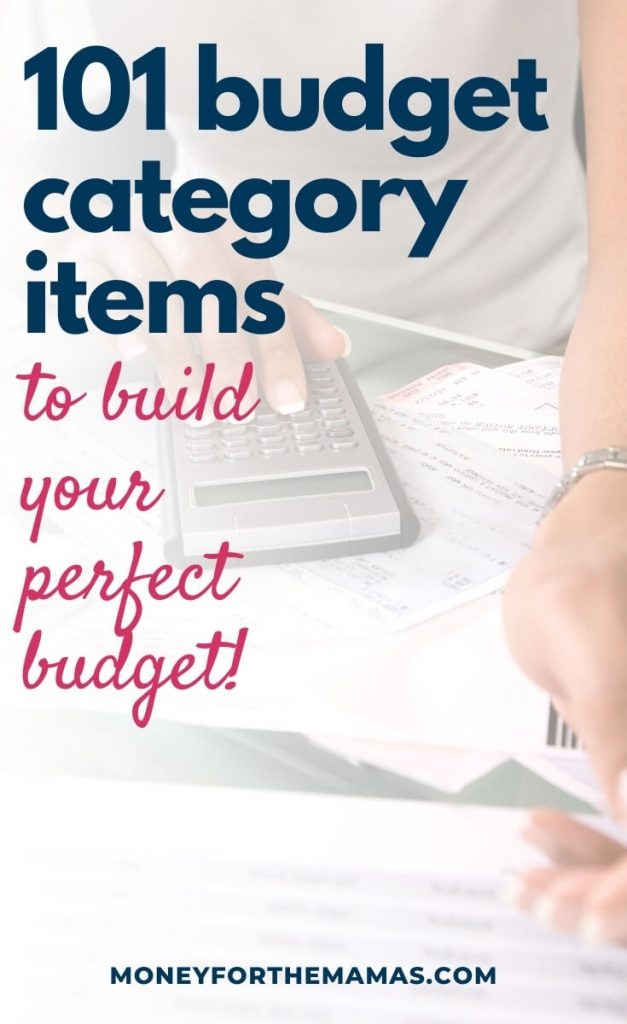 101 budget categories