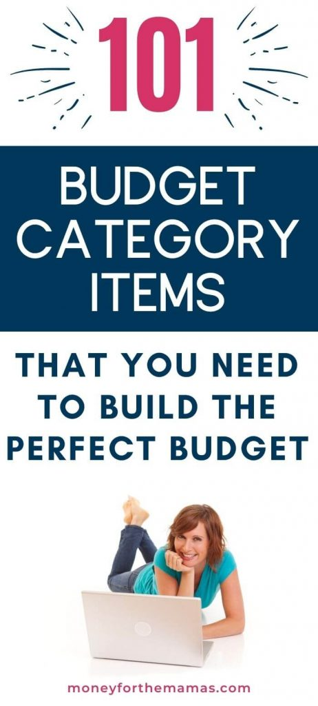101 budget categories and line items