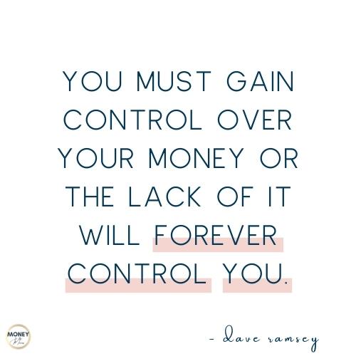 Dave Ramsey quote on money