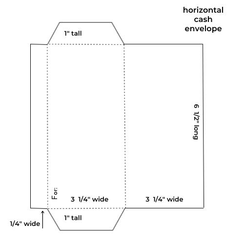 horizontal cash envelope template