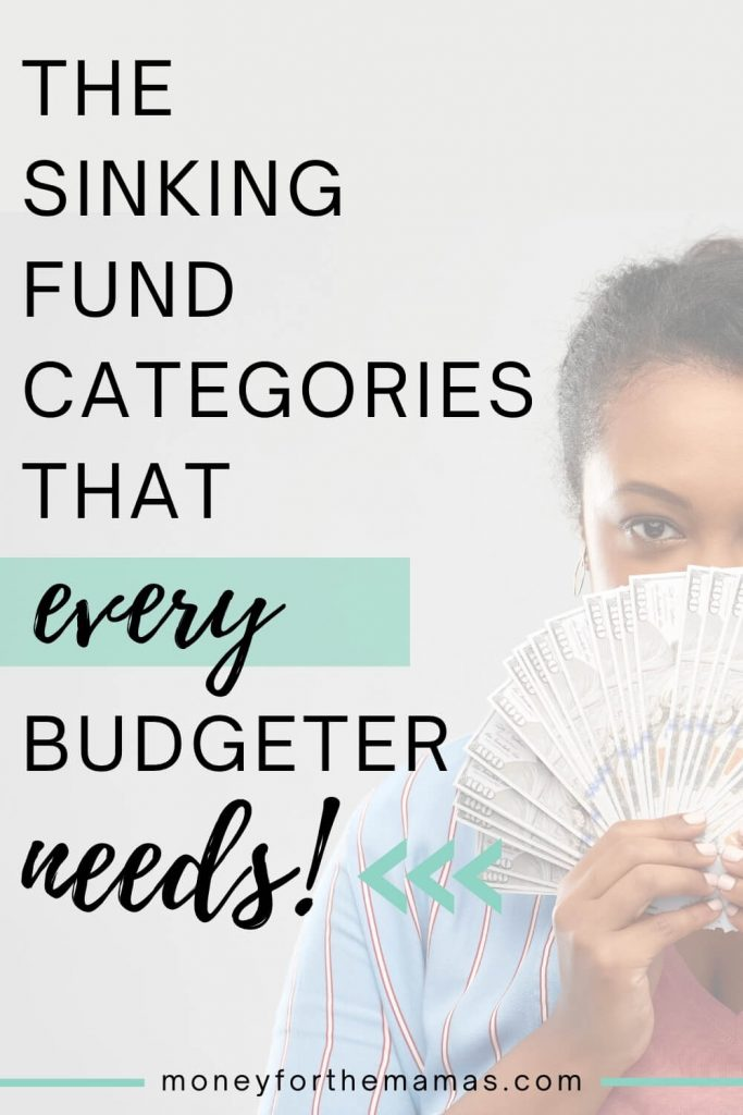sinking fund categories that every budgeter needs