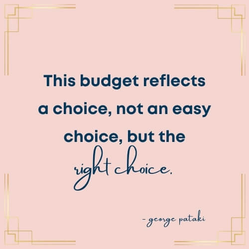 george pataki quote on budget