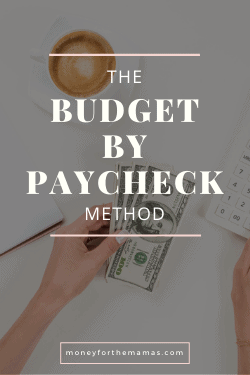 budget by paycheck method