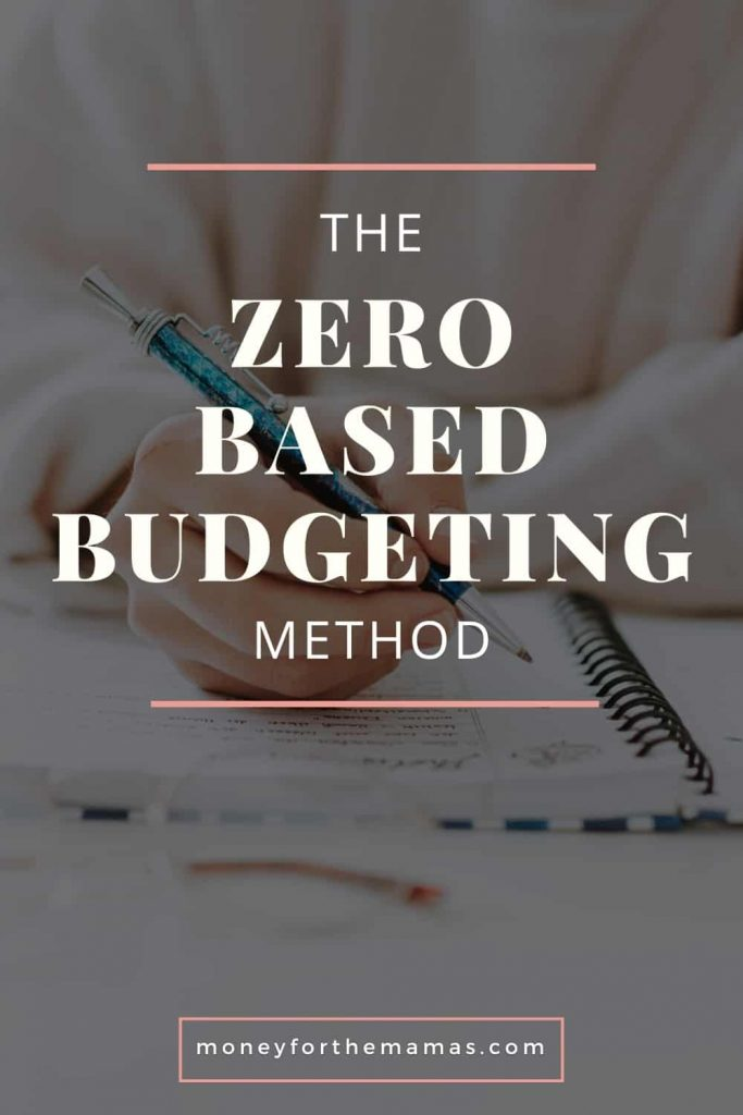 the zero based budgeting method
