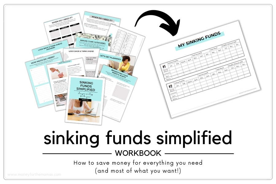 sinking fund tracker and workbook planner