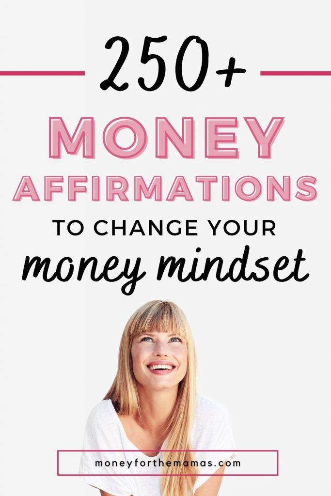 money affirmations to change your money mindset