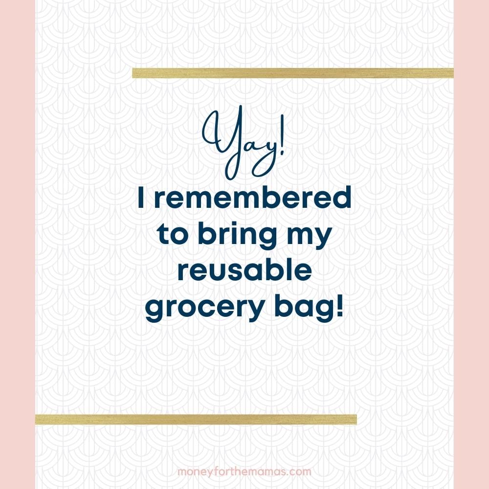yay!  I remembered my reusable bag!