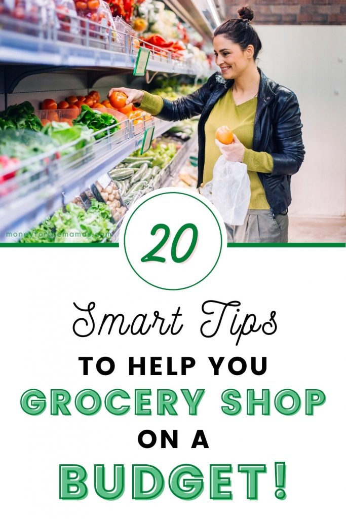20 smart tips to help grocery shop on a budget