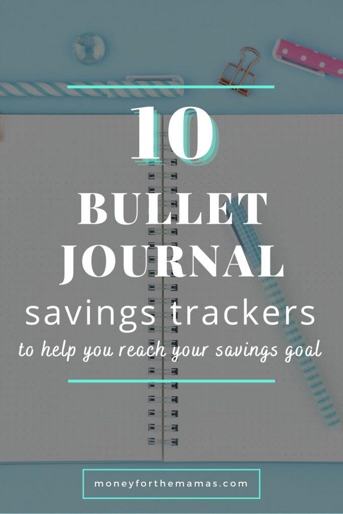 10 bullet journal savings trackers
