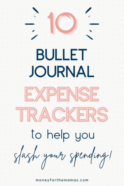 10 bullet journal expense trackers to slash your spending