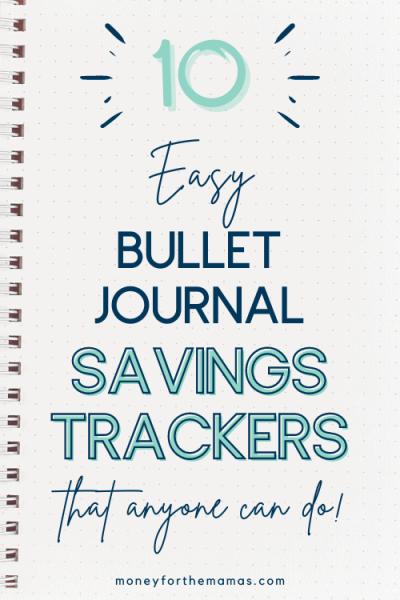 10 easy bullet journal savings trackers