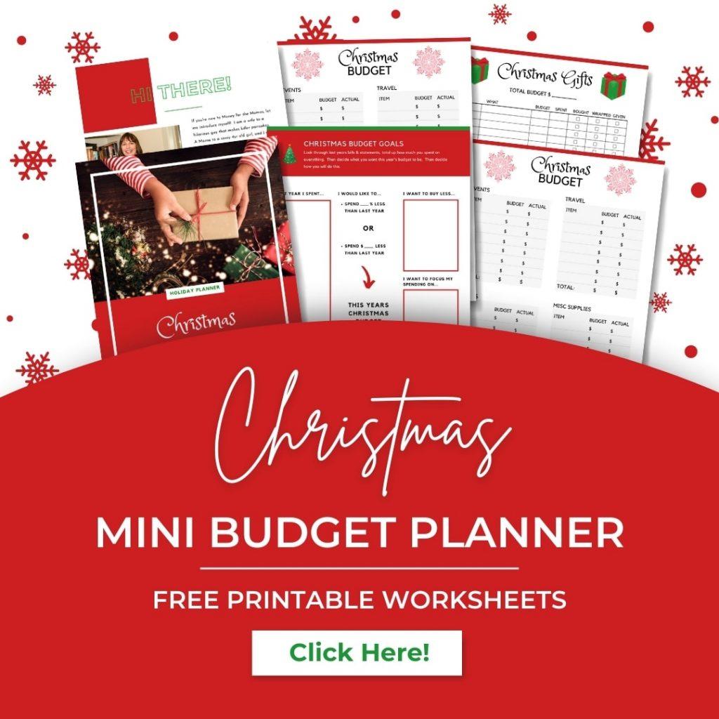 Free Christmas Mini Budget Planner