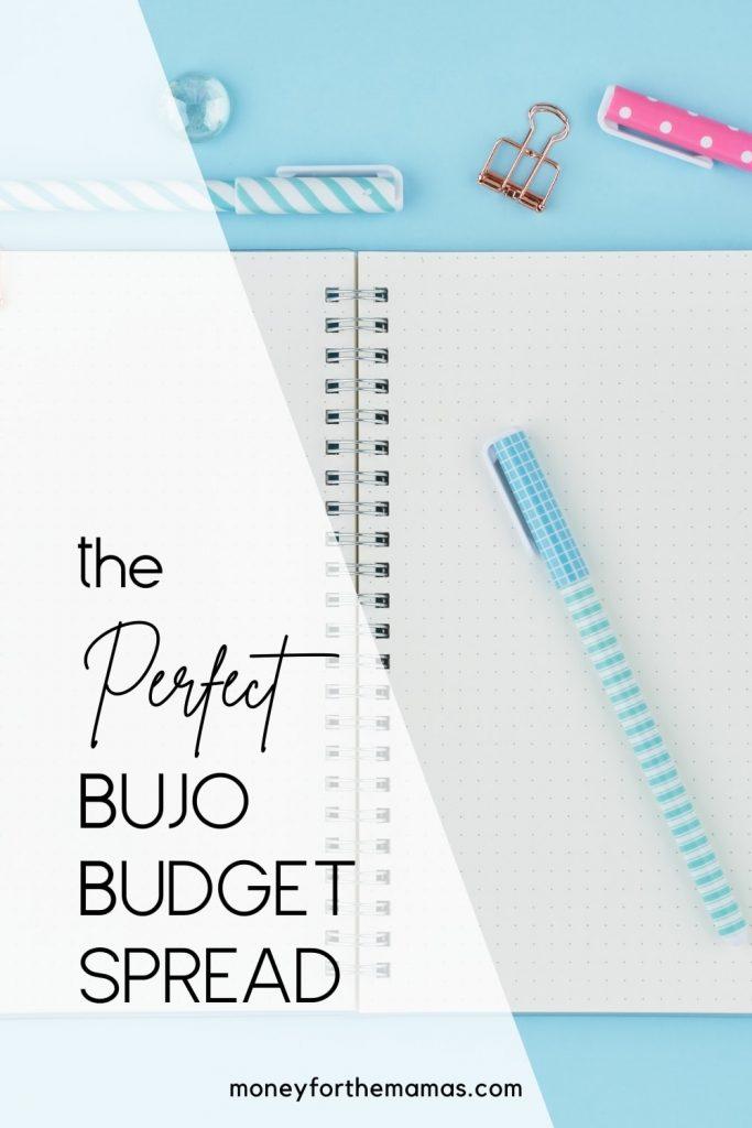 the perfect bujo budget spread