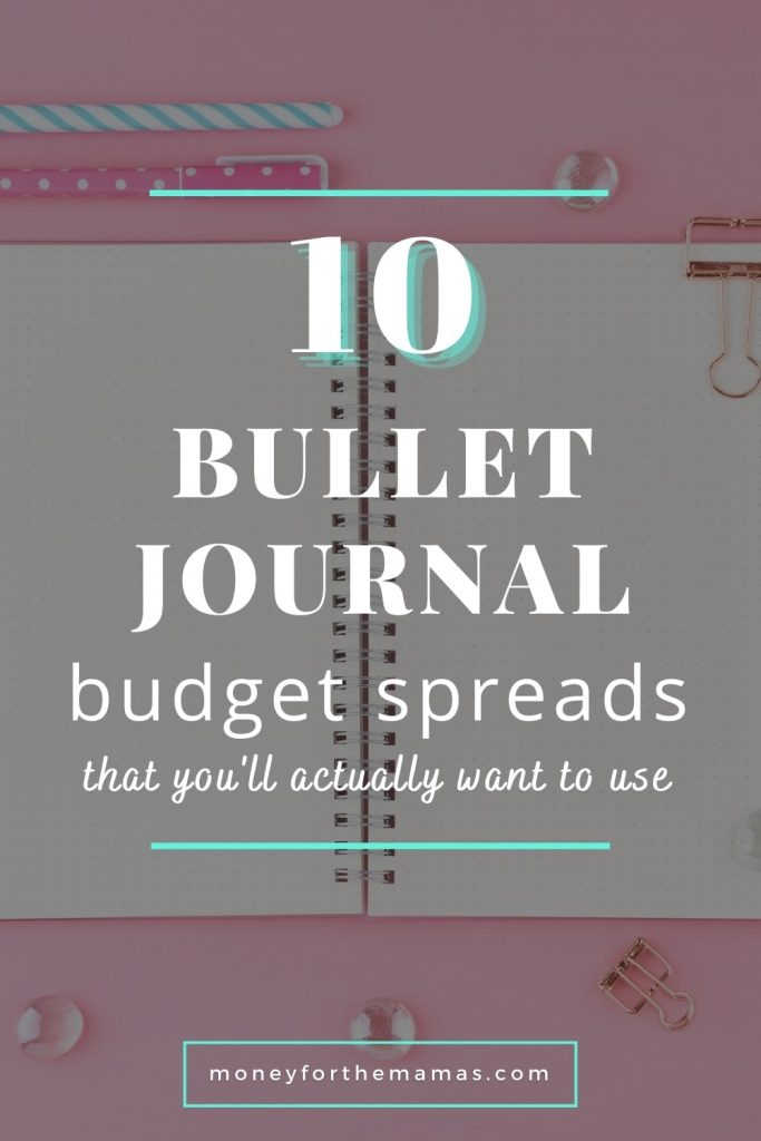 10 bulet journal budget spreads