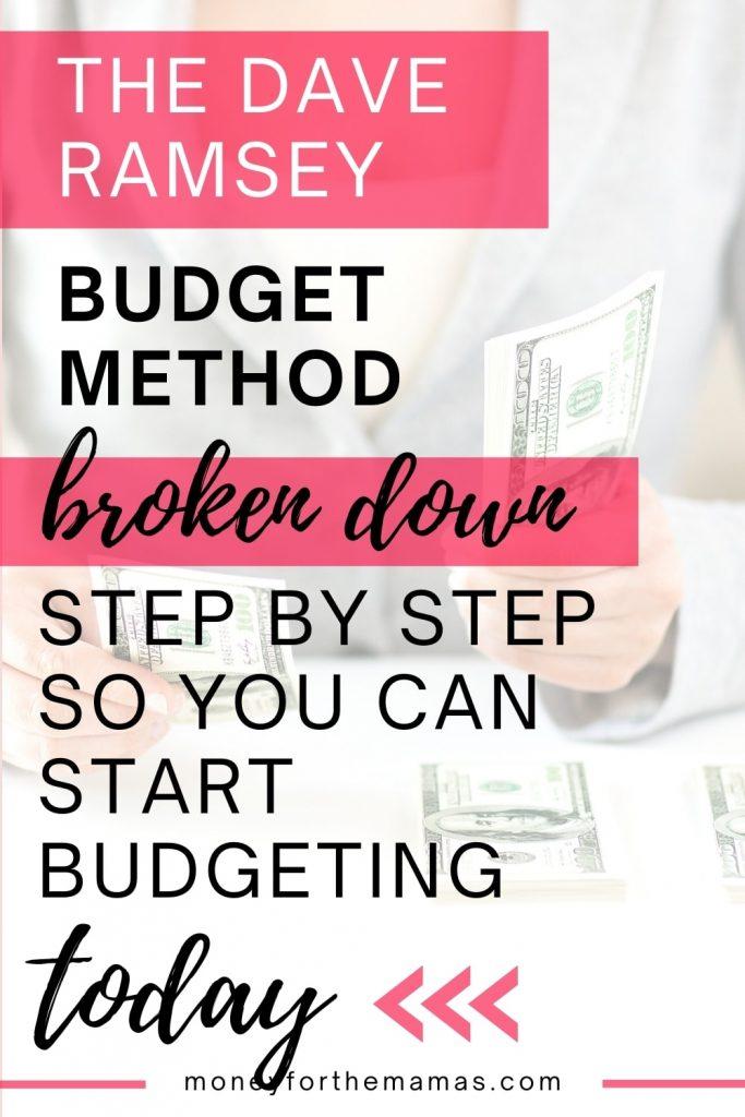 dave ramsey's budgeting method