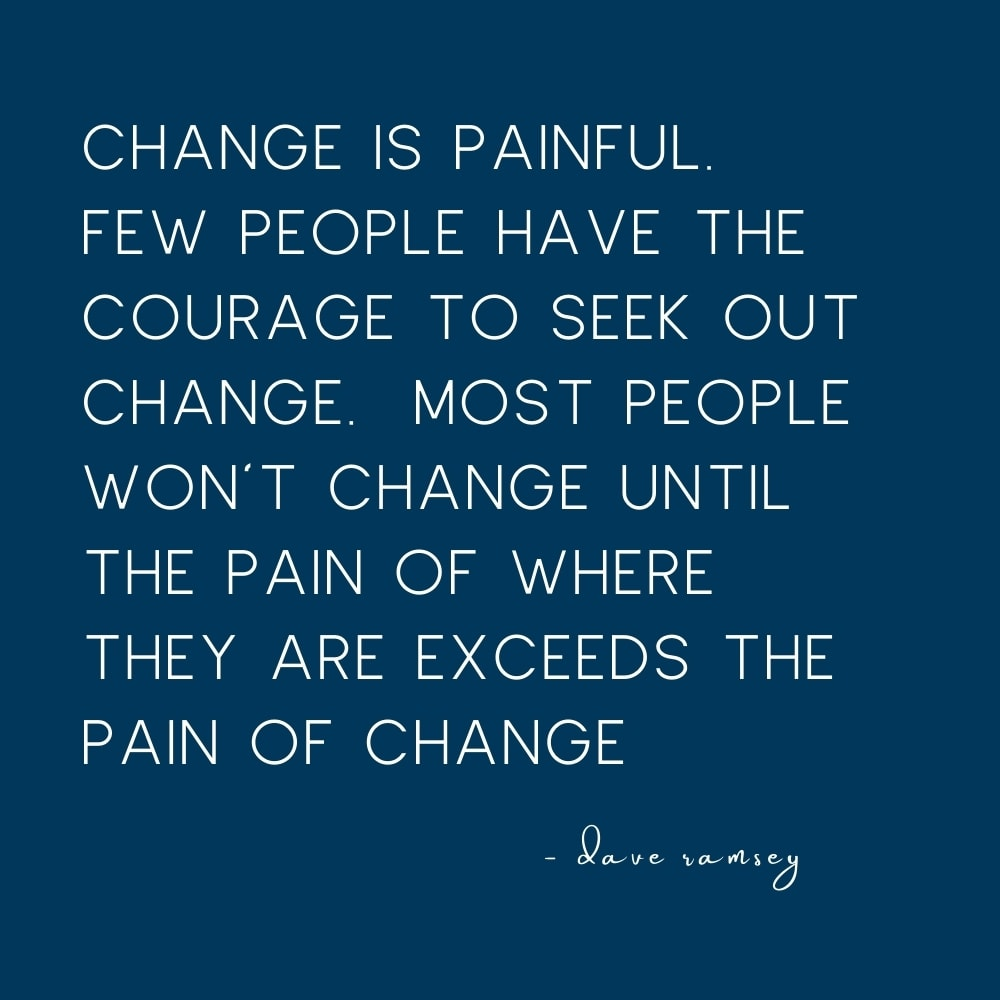 quote on change by dave ramsey
