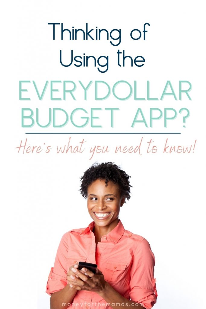 thinking of using the every dollar budget app