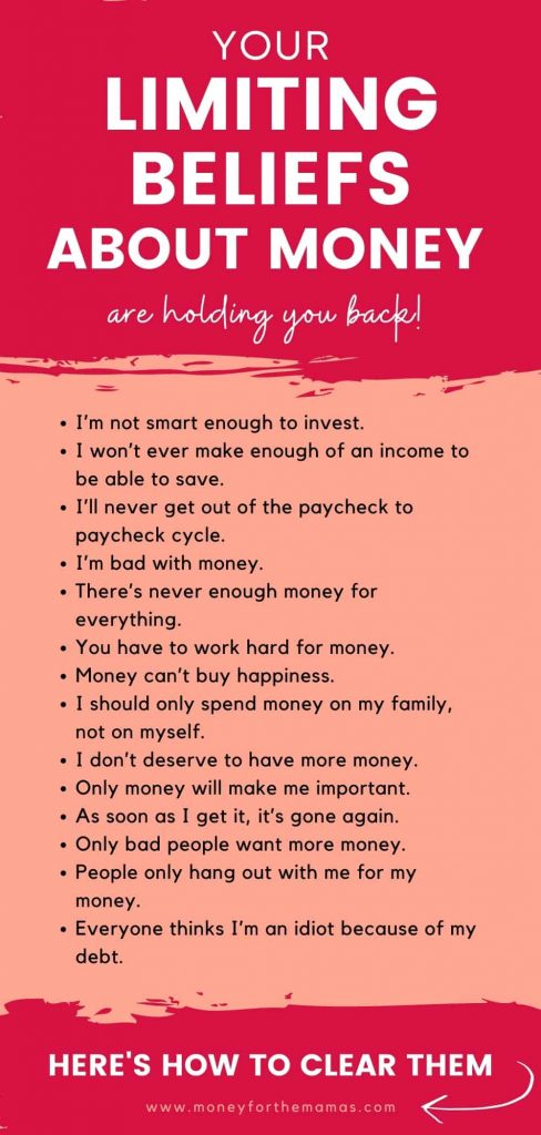 limiting beliefs about money are holding you back