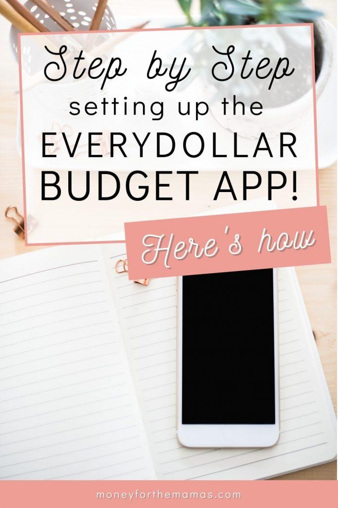 setting up the everydollar budget